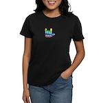 I Love Mom Inside Small Hand Women's Dark T-Shirt