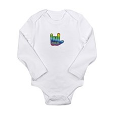 I Love Mom Inside Small Hand Long Sleeve Infant Bo