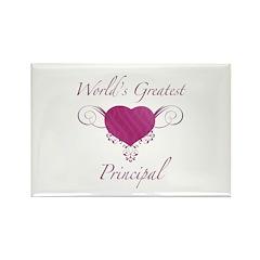 World's Greatest Principal (Heart) Rectangle Magne