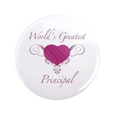 "World's Greatest Principal (Heart) 3.5"" Button (10"
