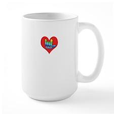 I Love Mom in Little Heart Mug