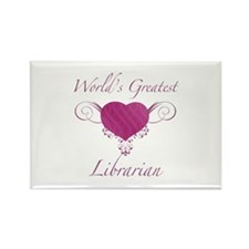 World's Greatest Librarian (Heart) Rectangle Magne