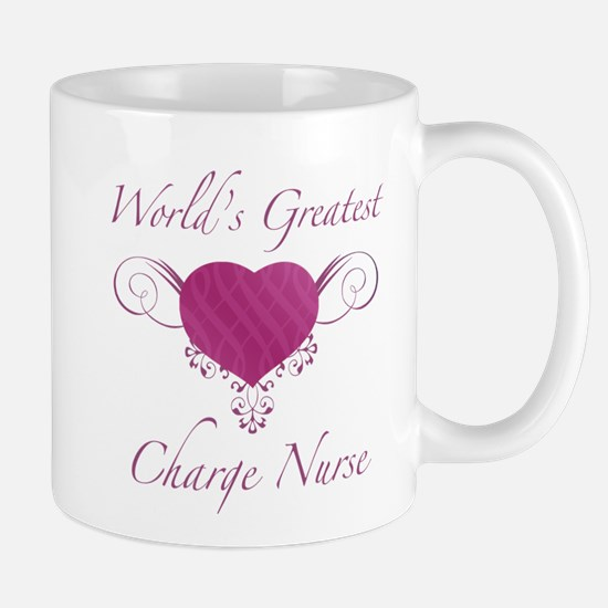 World's Greatest Charge Nurse (Heart) Mug