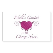 World's Greatest Charge Nurse (Heart) Decal