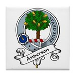Anderson Clan Badge Tile Coaster