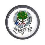 Anderson Clan Badge Wall Clock
