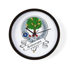 Anderson Clan Badge Wall Clock