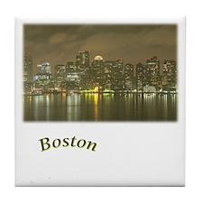 Boston-Night Tile Coaster