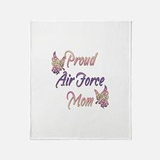 Proud Air Force Mom Throw Blanket