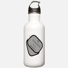 My Grandson is a Soldier dog Water Bottle