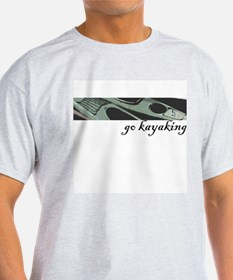 Go kayaking, add color to you Ash Grey T-Shirt