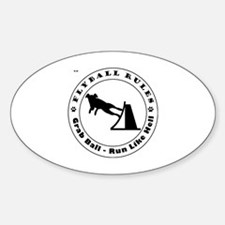 Cute Whippet mix Sticker (Oval)