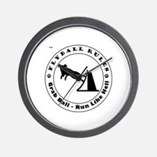 Cute All breed lure coursing Wall Clock