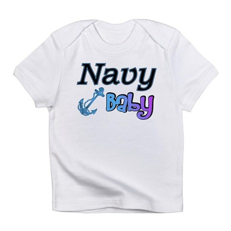 Navy baby blue anchor infant t shirt for Navy blue color shirt