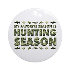 HUNTING SEASON Ornament (Round)