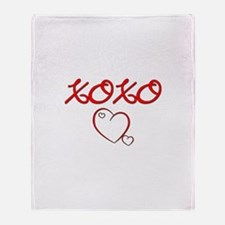 XOXO Heart Throw Blanket