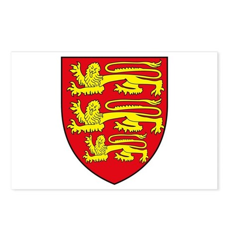 England Coat of Arms Postcards (Package of 8)
