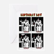 Birthday Boy Christmas Greeting Card