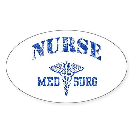 Med Surg Nurse Sticker (Oval)