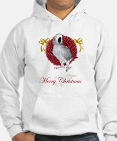 african grey parrot holiday Hoodie