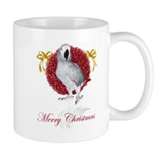 african grey parrot holiday Mug