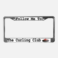 Follow Me to the Curling Club License Plate Frame