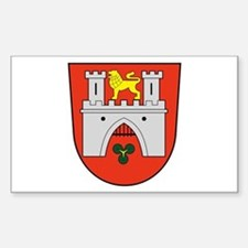 Hannover Coat of Arms Rectangle Decal