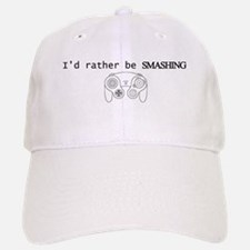 I'd rather be Smashing Baseball Baseball Cap