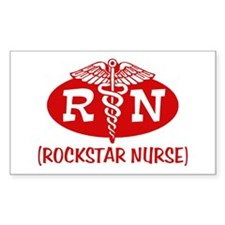 Rockstar Nurse Rectangle Decal