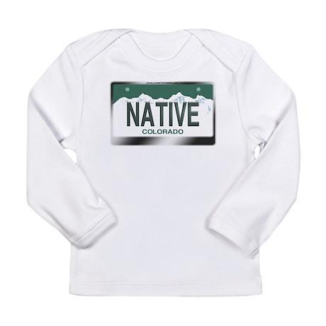 """NATIVE"" Colorado License Plate Long Sleeve Infant"