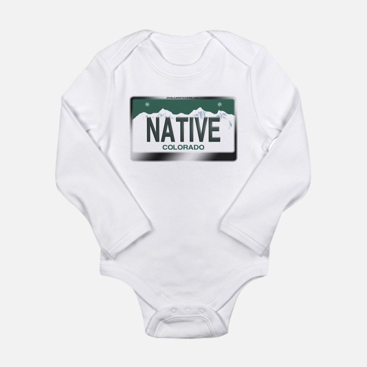 """NATIVE"" Colorado License Plate Long Sleeve Infant"