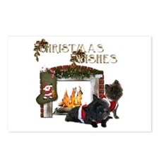 Cairn Terrier Christmas Postcards (Package of 8)