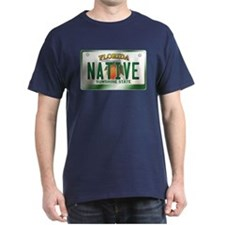 """NATIVE"" Florida License Plate T-Shirt"