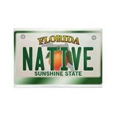 """NATIVE"" Florida License Plate Rectangle Magnet"