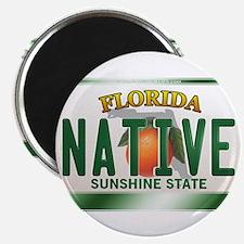 """NATIVE"" Florida License Plate Magnet"