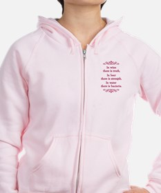 In wine there is truth.... Zip Hoodie