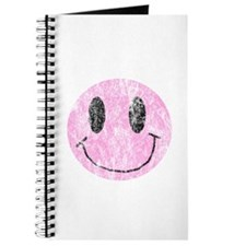 Vintage Pink Smiley 1 Journal
