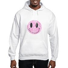 Vintage Pink Smiley 1 Jumper Hoody
