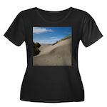 Pacific Dune Scene Women's Plus Size Scoop Neck Da