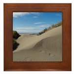 Pacific Dune Scene Framed Tile