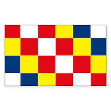 Antwerp Flag Rectangle Decal