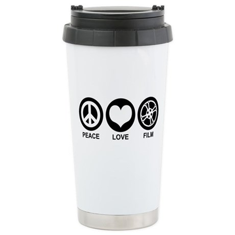 Peace Love Film Stainless Steel Travel Mug