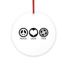 Peace Love Film Ornament (Round)