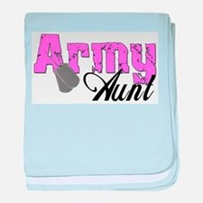 Army Aunt baby blanket
