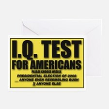 IQ Test Greeting Cards (Pk of 10)