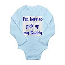 Navy - I'm here to pick up my Long Sleeve Infant B
