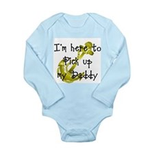 Gold Navy Pick up my Daddy Long Sleeve Infant Body