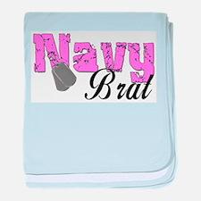 Navy Brat baby blanket