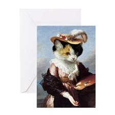 Miss Kitty Greeting Card