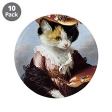 """Miss Kitty 3.5"""" Button (10 pack)"""